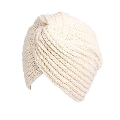 a04696b6c84b2 Winter Women Hat Wool Cross Twist Cap Beanie Scarf Turban Fashion Womens  Casual Skullies Caps