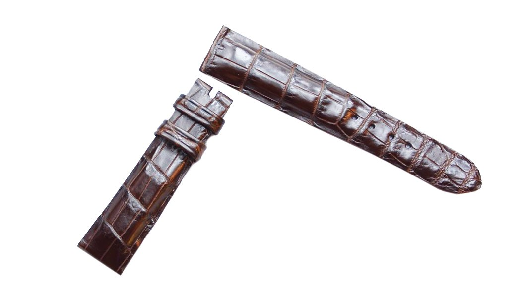 Dark Brown Alligator Watch Strap Gator and Crocodile Watch Band replacement Collection (21mm)