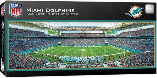 MasterPieces NFL Miami Dolphins 1000 Piece Stadium Panoramic Jigsaw Puzzle