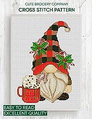 Cross stitch pattern: Christmas gnome: Counted cross stitch