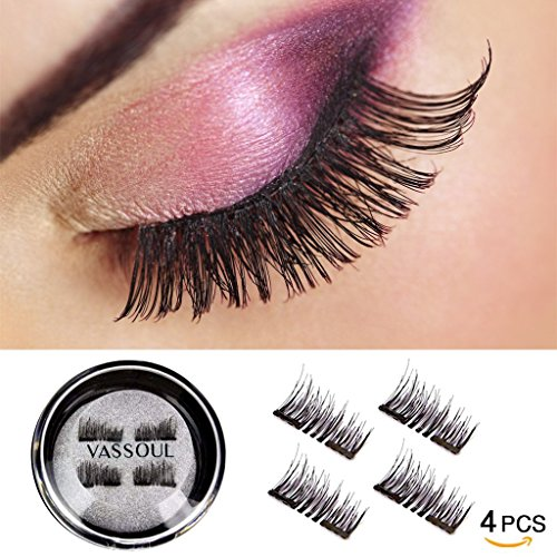 f640c60506d Vassoul Dual Magnetic Eyelashes-0.2mm Ultra Thin Magnet-Lightweight & Easy  to Wear-Best 3D Reusable Eyelashes Extensions (B002MY6ZZG) | Amazon price  tracker ...