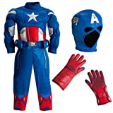 Disney Store The Avengers Captain America Muscle Costume Size Small 5/6 (5T)
