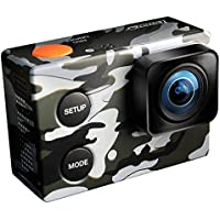 ISAW Edge Camo Edition action camera 4K 1080p 60fps (16MP Sony sensor) unique camouflage decal, waterproof housing 40m
