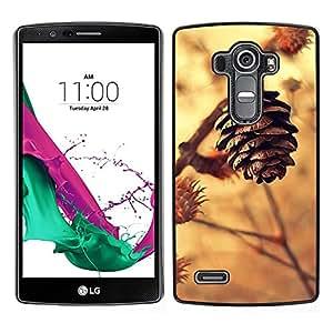 LG G4 / H815 H812 H810 H811 LS991 VS986 US991 Único Patrón Plástico Duro Fundas Cover Cubre Hard Case Cover - Cone Colden Brown Autumn Nature