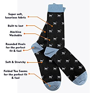 3KB Men's Dress Socks Fun Collection (10 Pairs Per Pack) - Variety of Sizes and Patterns (12 - 15)