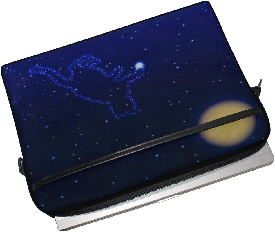 Laptop Bag Cat Star On Sky Moon 15-15.4 Inch Laptop Case College Students Business People Office Wor Briefcase Messenger Shoulder Bag for Men Women