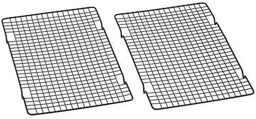 Baker's Secret 1061483 10-by-16-Inch Nonstick Cooling Rack, Set of 2