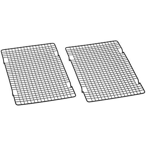 Baker's Secret 1061483 10-by-16-Inch Nonstick Cooling Rack, Set of 2 ()