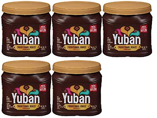 Yuban Ground Coffee Traditional Medium Roast 31 Ounce Canister (Pack of 5)