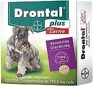 Vermífugo Bayer Drontal Plus Sabor Carne para Cães de até 10kg - 2 Comprimidos