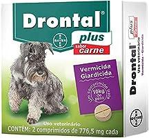 Vermífugo Bayer Drontal Plus Vermífugo para Cães de até 10kg - 2 Comprimidos Sabor Carne