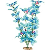 Imagitarium Fiesta Silk Blue Aquarium Plant, 12'' L X 4'' W, Large