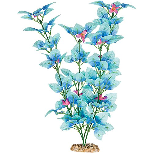 "Imagitarium Fiesta Silk Blue Aquarium Plant, 12"" L X 4"" W, L"