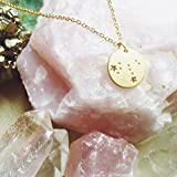 Lucky Feather Leo Zodiac Sign Constellation Pendant