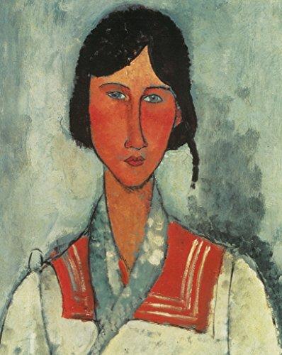 Amedeo Modigliani Gypsy Woman with Baby Art Print Poster 12x18 - Modigliani Modern Poster