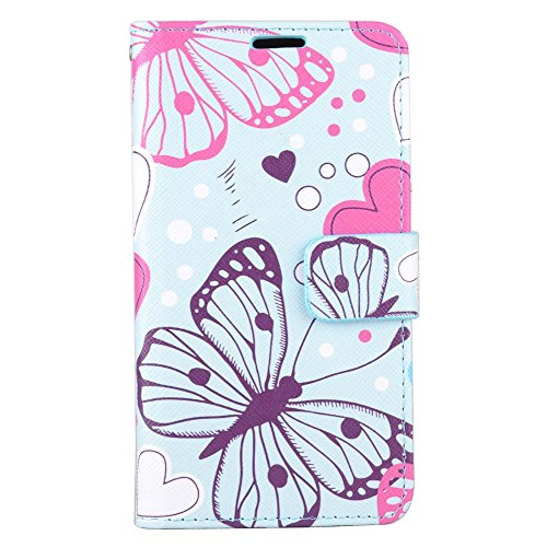 Cell Accessories For Less (TM) Samsung Galaxy J7 2016 J710 - Wallet Pouch Card Holder Butterflies Zd05 Bundle (Stylus & Micro Cleaning Cloth) - By TheTargetBuys