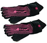 Gaiam Grippy Yoga Socks (2 Pack), Small/Medium