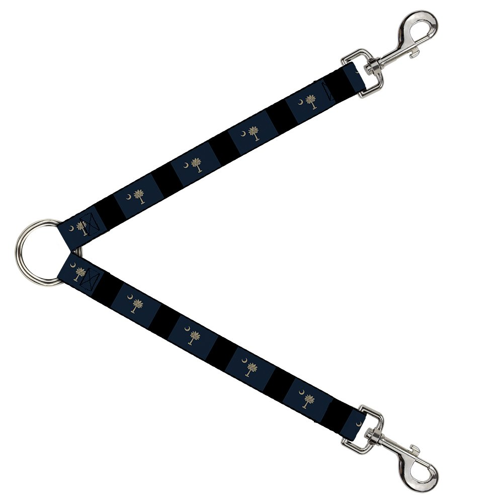 Buckle-Down DLS-W37102 Leash Splitter-South Carolina Flag Distressed Black, 1  W-30  L
