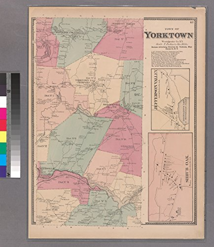 Map Poster - Plate 61: Town of Yorktown, Westerchester Co. N.Y. - Shrub Oak - Jefferson Valley. 27.5