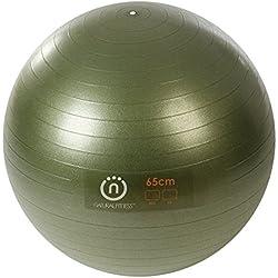 Natural Fitness Pro Burst Resistant Exercise Ball (Olive, 65-cm/Medium )