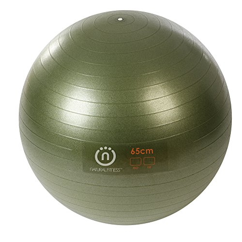Natural Fitness Pro Burst Resistant Exercise Ball (Olive, 65-cm/Medium )