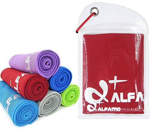 wwww Balhvit Cooling Towel Evaporative Chilly Towel For Yoga Golf Travel-Red-Medium (40x12-Inch) by wwww