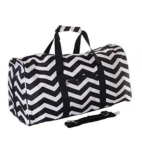 World Traveler Black Chevron Gym Duffle Bag 21-inch