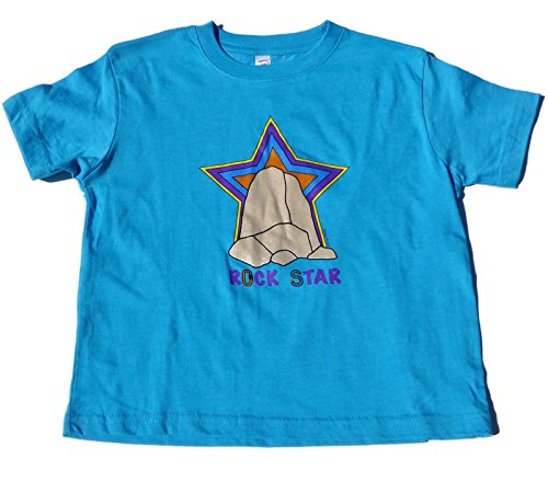 ZippyRooz Boys Toddler & Little Kids Rock Climbing Tee Shirt Rock Star (4T) Turquoise