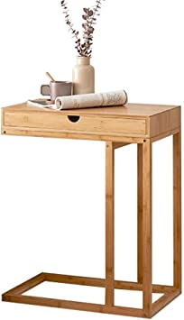 Amazon.com: L-Life End Tables Side Table C-Shaped Solid Wood Rectangular Small Couch Table With Drawer, Simple Storage Living Room Bedroom Reading Laptop Table: Furniture & Decor