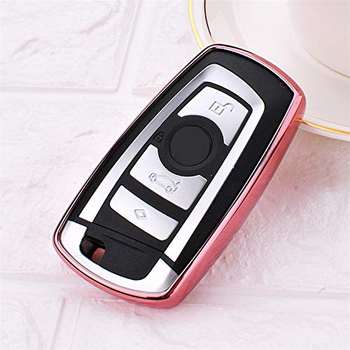 Generic TPU Car Key Cover Case Holder Wallets Skin Set for BMW e30 e36 e90 e60 e84 e36 e53 e63 e90 F10 F30 x1 x3 x4 x5 x6 Car Stylin Color Name Pink