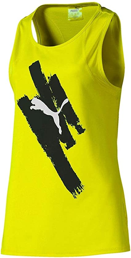 PUMA Camiseta BE Bold Graphic Tank Amarillo Mujer: Amazon.es ...