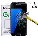 [3 Pack] Galaxy S7 Screen Protector, Case FriendlyTempered Glass Bubble Free 0.26mm 9H hardness Screen Protector for Galaxy S7 by SUVAPOTAC