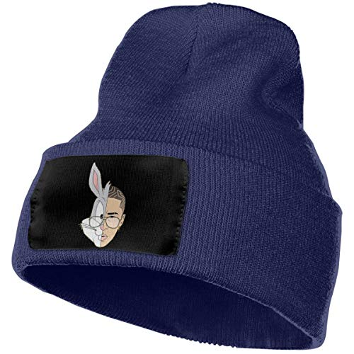 Hoodeid Men's Women's Beanie Hat Bad Bunny Knit Hat