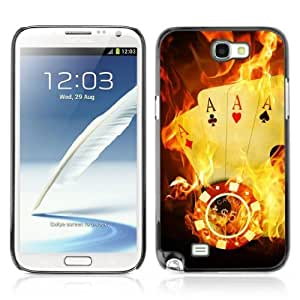YOYOSHOP [Burning Ace Cards] Samsung Galaxy Note 2 Case