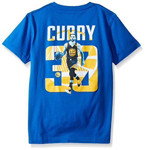 NBA Golden State Warriors Stephen Curry Jr Principal Showcase Player Name & Number Tee, Royal Blue, Youth Large (Junior Player)
