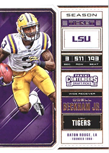 Tigers Football Tickets (2018 Panini Contenders Draft Picks Season Ticket #77 Odell Beckham Jr. LSU Tigers Football Card)