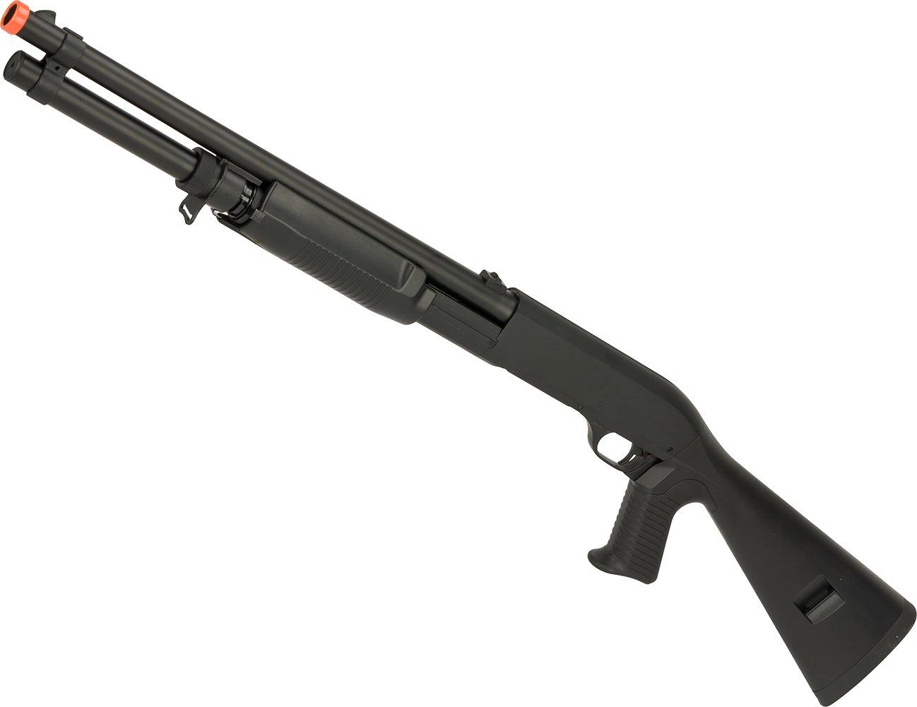 Evike - CYMA Full Metal M3 3-Round Burst Multi-Shot Shell Loading Airsoft Shotgun by Evike