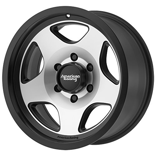 (American Racing AR923 18x9 Black Machined Wheel / Rim 5x5.5 with a 0mm Offset and a 108.00 Hub Bore. Partnumber)