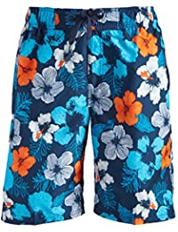 Men's Hangout Floral Quick Dry Beach Board Shorts Swim Trunk