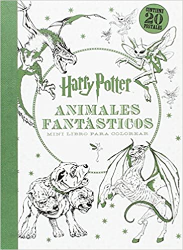 HARRY POTTER-ANIMALES FANTÁSTICOS MINI LIBRO PARA COLOREAR: AA.VV ...