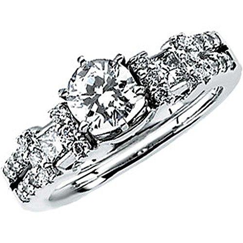 Cttw Bridal Enhancer - 1/2 CTTW Diamond Enhancer in 14k White Gold (Size 7 )