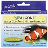 Water Filter Aquarium Algone Aquarium Water Clarifier and Nitrate Remover, 6 filter pouches