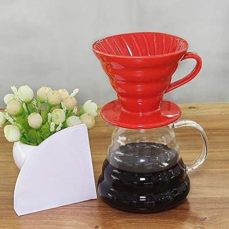 Gotero de cerámica para cafetera V60 estilo filtro de goteo de ...