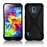 Cadorabo – Silicone Case X-LINE SLIM-FLEX for Samsung Galaxy S5 ACTIVE – Etui Cover Protection Bumper Skin in OXIDE-BLACK