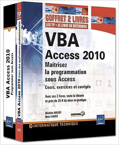 Téléchargement VBA Access 2010 - Coffret de 2 livres : Maîtrisez la programmation sous Access pdf