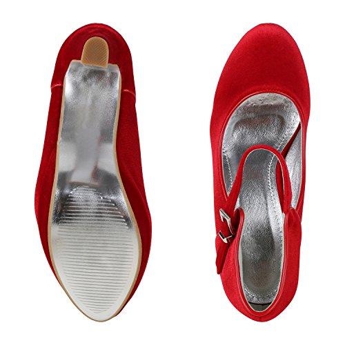 napoli-fashion - Cerrado Mujer rojo/plateado
