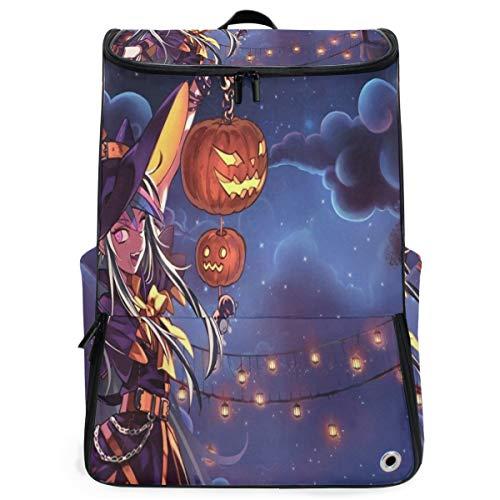 Ladninag Laptop Backpack Personalized Halloween Anime Wallpaper School Backpack for Men Big 3D Back Pack]()