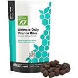Only Natural Pet Ultimate Daily Vitamin Bites Nutritional Supplement For Dogs - 60 Soft Chew Dog Multivitamin Supplements For Joints, Skin & Coat, Immune Support, Digestive System, Bones Teeth & More