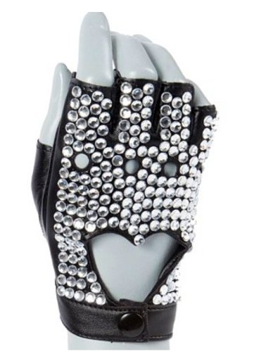 Fingerless Glove - Crystal Studded Right (Claires Rhinestone)