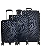 Delsey Paris Alexis 3-Piece Lightweight Luggage Set Hardside Spinner Suitcase with TSA Lock (21'/25'/29') (Navy)